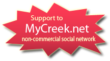 Support to MyCreek.net. Non-commercial social network.